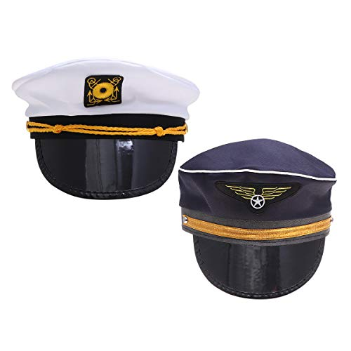 pitän Sailor Hat Kapitän Pilot Hut Party Hüte Boot Segeln Angeln Kapitän Cap Flugbegleiter Hut Halloween Kostüme Kinder Party Dekoration ()