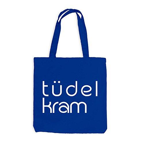 Borsa In Juta - Borsa Tüdelkram - Divertente Motivazione Blu Reale