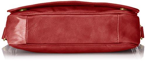 CTM Borsa Uomo Organizer, Borsa porta MAC e PC da Lavoro, 32.5x28x8cm, Vera Pelle 100% Made in Italy Rosso
