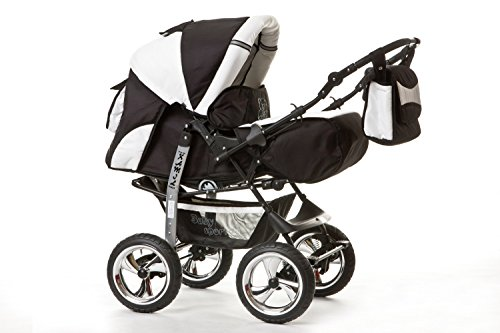 kombi kinderwagen travel system kamel 3in1 schwarz weiss babyschale autositz 0 10kg. Black Bedroom Furniture Sets. Home Design Ideas