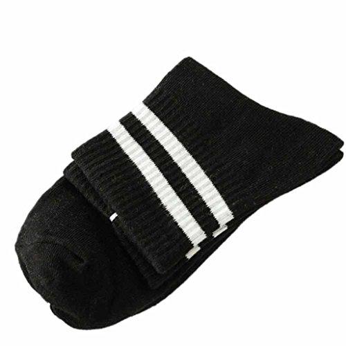 Transer® Unisex Baumwolle Socken Streifen Knöchel Wärmer Herbst Winter Socken Größe: 22-24cm - Pelz-bein-wärmer Lila