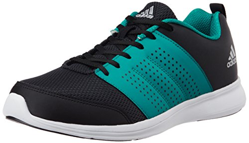 4. Adidas Men's Adispree M Black, Green and Silver Running Shoes