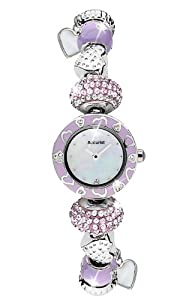 Accurist LB1465L - Reloj analógico para mujer, correa de otros materiales color plateado de Accurist