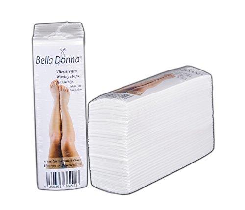 Vliesstreifen 7 x 22 cm 300 st von Bella Donna für Enthaarung mit Warmwachs und Zuckerwachs. Hochqualitatives Material, extra sanft auf der Haut.