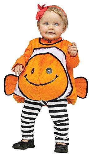 Fun World Costumes Baby's Giddy Goldfish Infant Costume, Orange/Gold, One Size