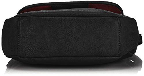 Tamaris LENA  1006999-473 Damen Umhängetaschen 25x21x8 cm (B x H x T) Schwarz (Black 001)