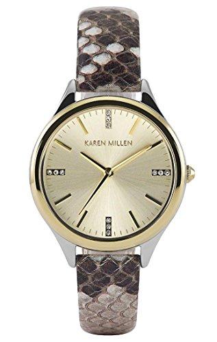 Karen Millen KMWA102TG - Reloj de pulsera para mujer