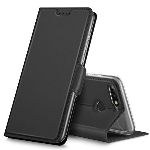 GeeMai Huawei Y7 2018 Hülle, Huawei Y7 Prime 2018 Hülle, Premium Flip Case Tasche Cover Hüllen mit Magnetverschluss Standfunktion Schutzhülle Handyhülle für Huawei Y7 2018/ Y7 Prime 2018 Phone