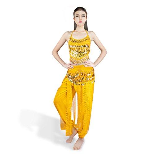 SymbolLife Bauchtanz kostüm damen indischen Tanzkleidung Tanzkostüme Halloween -
