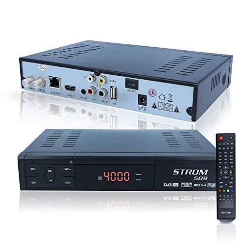 Strom 509 Sat Receiver Iptv - Ohne IPTV Code HD Digitaler Receiver für Kabel mit Lan Anschluss (HDTV, DVB-S2, HDMI, AV, Youtube, Internet, USB 2.0)