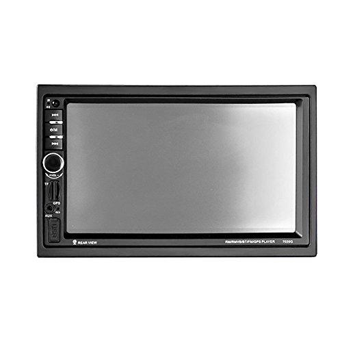 Voiture Stéréo Lecteur MP5 7,0 Pouces Affichage GPS Navigation Fonction Miroir Lien Audio Automobile + Télécommande