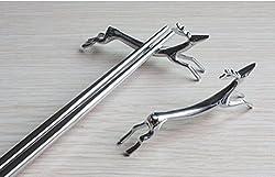 Generic Zinc alloy chopsticks pads holder Decoration light running deer chopsticks holder mats Table Decoration