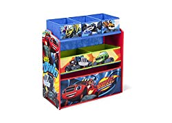 Delta Children Multi-Bin Toy Organizer, Nick Jr. Blaze/The Monster Machines