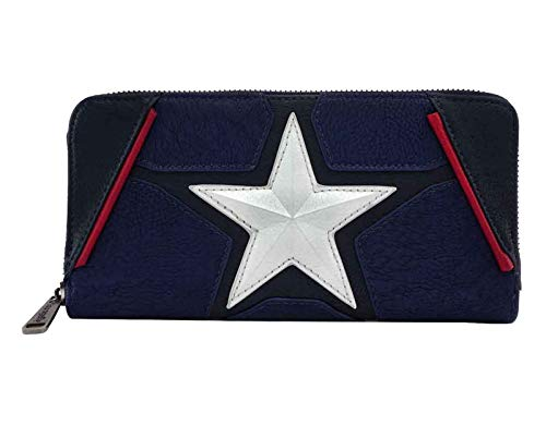 Loungefly Captain America Cosplay Zip-around Wallet
