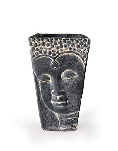Aalami Buddha Face Vaso in Ceramica 26 cm, Realizzato a Mano, in Terracotta, per Fiori e Piante per Giardino e casa, Decorazione Regalo per Compleanno, Matrimonio, Natale
