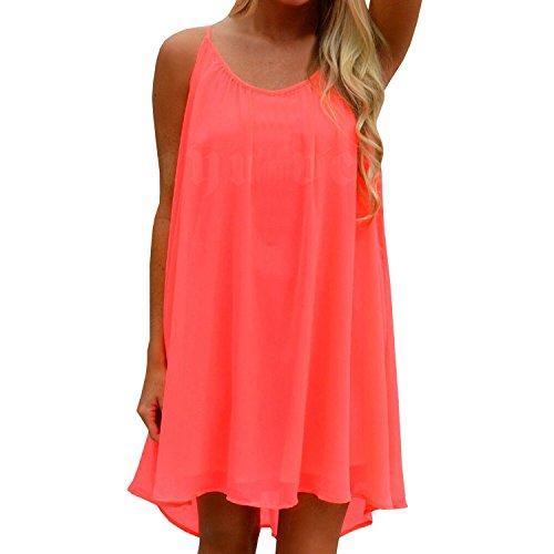 SUNNOW Womens Sexy Summer Casual Evening Party Beach Dress Short Mini Dress