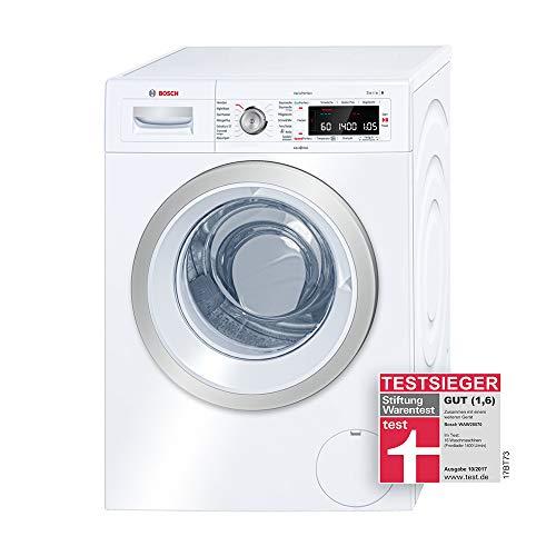 Bosch WAW28570 Serie 8 Waschmaschine Frontlader / A+++ / 196 kWh/Jahr / 1360 UpM / 8 kg / Weiß / Fleckenautomatik…