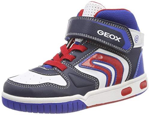 Geox Jr Gregg B, Baskets Hautes garçon, Bleu (Navy/White C4211), 29 EU