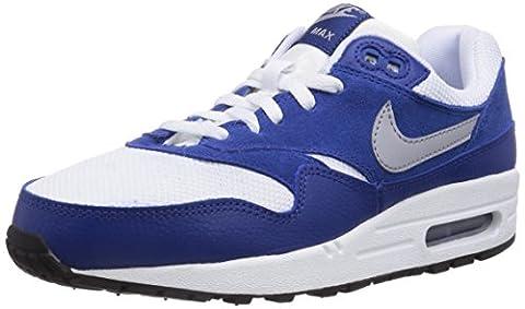 Nike Air Max 1, Baskets mode mixte enfant - Bleu (White/Wolf Grey/Gym Blue/Black 111), 38 EU