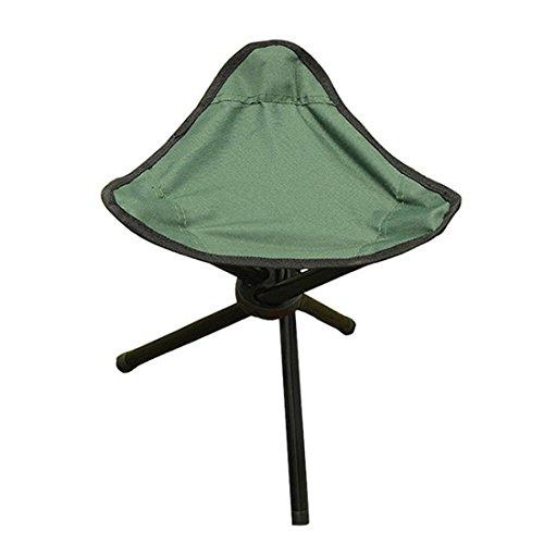 F.lashes Dreibeinhocker Campingstuhl 3-Bein Trekking Hocker Stabiler Klapphocker Leichter Angelstuhl Stuhl mit Schultergurt Einfacher Klappstuhl Transportgurt