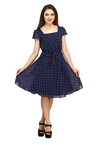 Colorfuel Women's Dress(CFW-001 Medium_Blue_Medium)