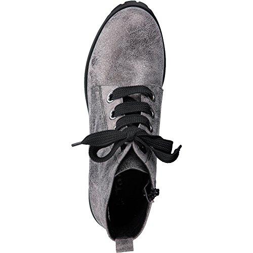 Tamaris 1-1-25217-39 Stivali Allacciati Da Donna, Stringate, Stivali, Stivali, Stringate, Sneakers In Metallo Peltro.