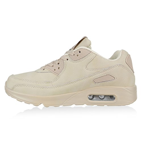 Damen Herren Unisex Laufschuhe Profil Sohle Sportschuhe Fitness Schuhe Creme Avelar