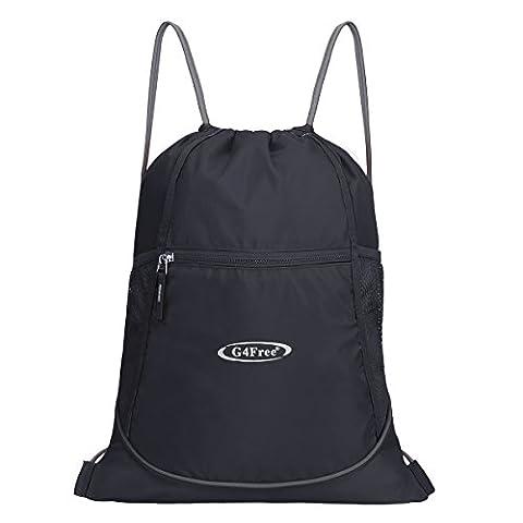 G4Free Drawstring Gym Bag Backpack Gymsack for Adults and Children, Swimming Bag Sports Bag Kids School PE Bag