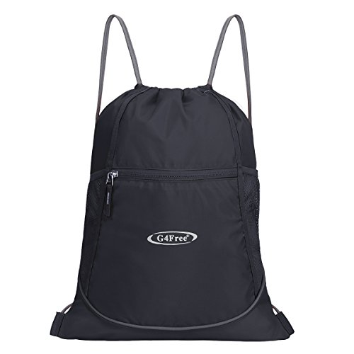 G4Free Drawstring Gym Bag Backpack Gymsack for Adults and Children, Swimming Bag Sports Bag Kids School PE Bag