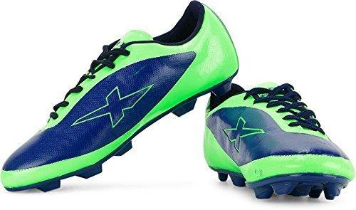 Vector X Amaze Football Shoes, Size 7 (Blue/Green)