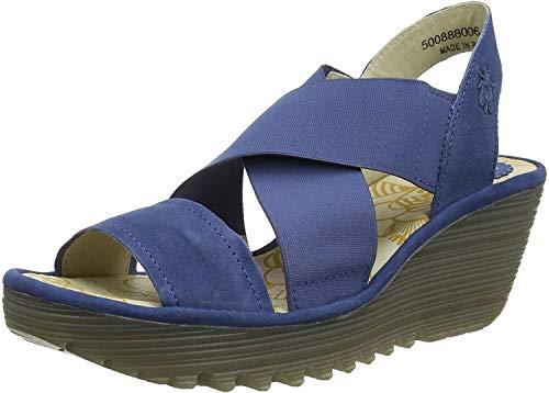Fly London Yaji888fly, Sandalias de Punta Descubierta para Mujer, Azul Blue 006, 39 EU