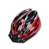 Ulmisfee Fahrradhelm mit abnehmbare Sonnenblende verstellbares reflektierendes Band Herren Damen Erwachsene Radhelm BMX Mountainbike Helm 55-60cm (Black&Red)