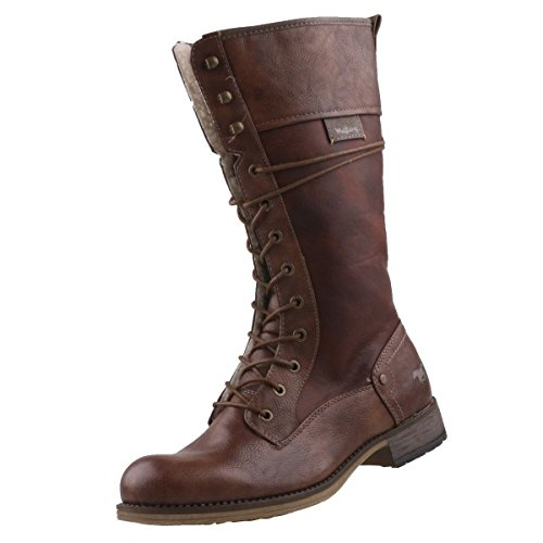 Mustang Damen Stiefel gefüttert Braun, Schuhgröße:EUR 36