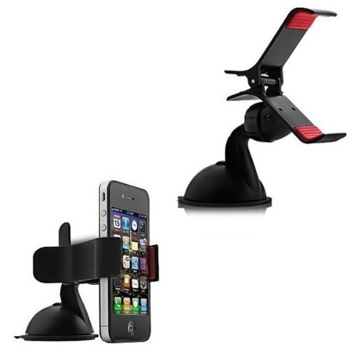 Classy Tek Car Mobile Holder Mount Bracket Holder Stand 360 Degree Rotating (Black)  available at amazon for Rs.99