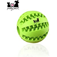 Pretty petZ Hundeball mit Zahnpflege-Funktion Noppen aus Naturkautschuk | Robuster Hunde Ball Ø 7cm | Hundespielball für Große & Kleine Hunde | Kauspielzeug aus Naturgummi für Leckerli (1 - Dental Ball Ø 7 cm, Grün)