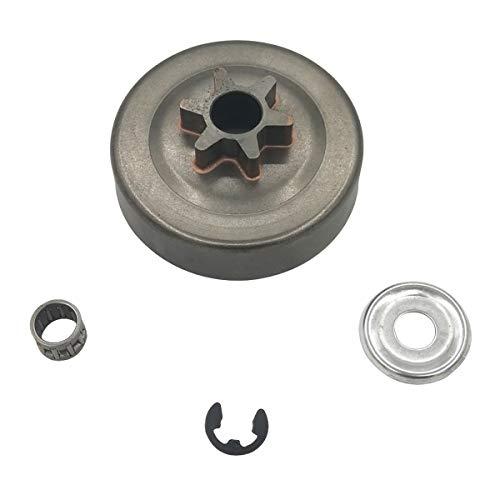 Shioshen 3/8 6 Zähne Kupplung Schlagzeug Kettenrad Scheibe Clip für STIHL Motorsäge 017 018 021 023 025 MS170 MS180 MS210 MS230 MS250 1123 640 2003