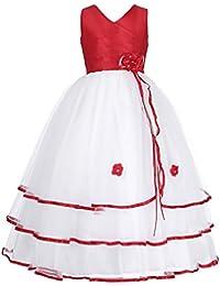 Grace Karin® Maedchen Prinzessin aermellos Blumenmaedchen kleid Party Kleid