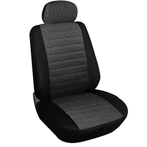 WOLTU 7231 Coprisedile Copertura Anteriore Singolo Universale per Auto Macchina Seat Cover Protezione per Sedile di Poliestere Grigio