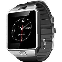 """CHEREEKI Reloj de pulsera smartwach con funcion llamada por tarjeta SIM o via Bluetooth desde tu android smartphone, pantalla tactil de 1.56"""", camara y soporta tarjeta SD de hasta 32GB"""