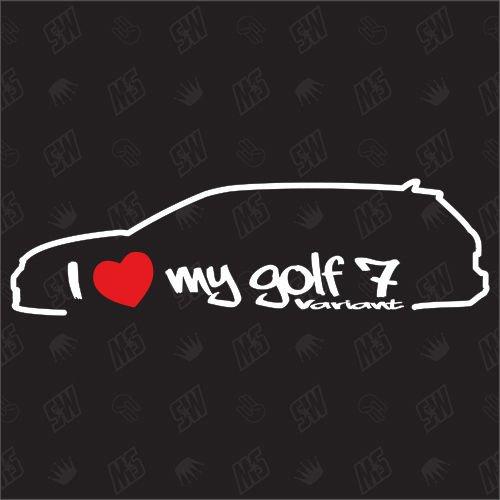 speedwerk-motorwear I Love My Golf 7 Variant - Sticker, ab Bj.13