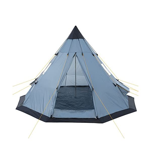 CampFeuer® - Tipi Teepee - Tent, grey/blue 3