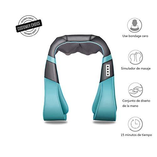 Infrarot-Nackenmassagegerät, Schulter Massagegerät für Nacken Schulter Rücken, Muskel Schmerzen, 3D-Rotation Elektrisches Massage,Haus Büro Auto Shiatsu-Nacken- und Schultermassagegerät