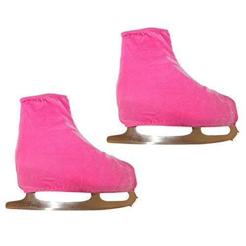 VORCOOL 1 Paar Velvet Eiskunstlauf Schuhe Cover Schlittschuh Zubehör Größe M (Pink)