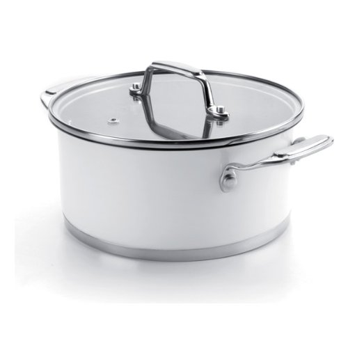 Price comparison product image Lacor Casserole with Glass Lid, White, 20 cm