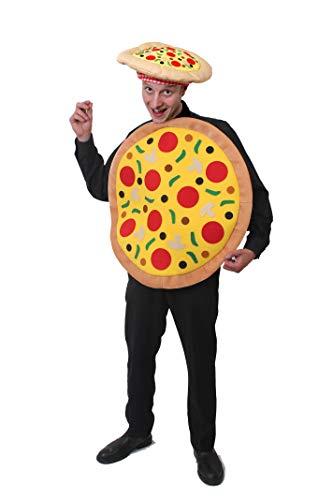 ILOVEFANCYDRESS Pizza KOSTÜM Verkleidung = MIT Allen AUFLAGEN = 67cm Durchmesser = ERHALTBAR MIT Koch MÜTZE ODER Pizza Hut = Unisex = Fasching Karneval = 1 KOSTÜM + Pizza Hut (Pizza Hut Kostüm)