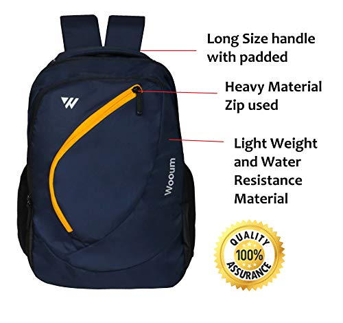 Wooum Navy Blue Light Weight 15.6 inch Casual Laptop Backpack 34 ltrs Bag Image 4