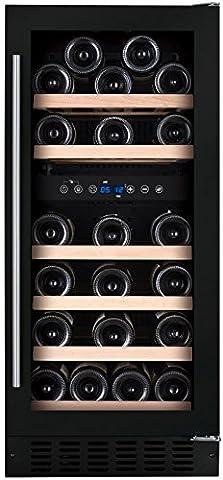 DUNAVOX Keller Hat Weine Einbauleuchte schwarze Bi Temperaturstufen 32bouetilles schwarz Full (Glass Hat)