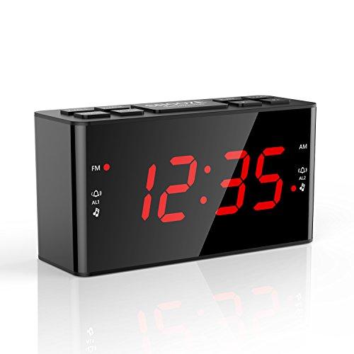 Digital FM AM Radiowecker Uhr Mit Nachtlicht-Funktion, Easy Snooze, Dual Alarm, Sleep-Timer – Anpassbare Helligkeitsregulierung (AT-49) Test