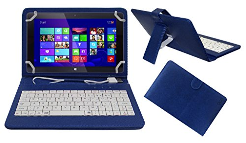 Acm USB Keyboard Case Compatible with Fusion5 7 Inch Tablet Cover Stand with Free Micro USB OTG - Blue