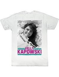 2Bhip Saved by The Bell 80's Comedy Sitcom Kelly Kapowski Photo White Adult T-Shirt